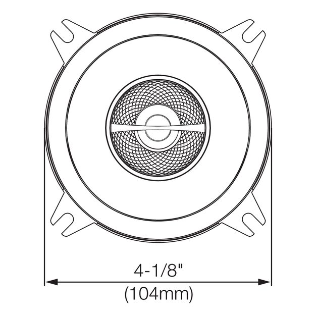 "GX402 - Black - 4"" coaxial car audio loudspeaker. 105W - Detailshot 2"