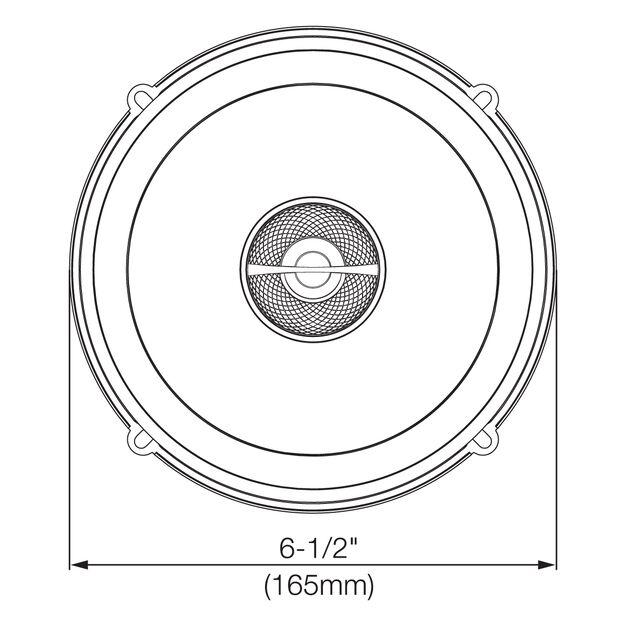 "GX602 - Black - 6-1/2"" coaxial car audio loudspeaker, 180W - Detailshot 2"