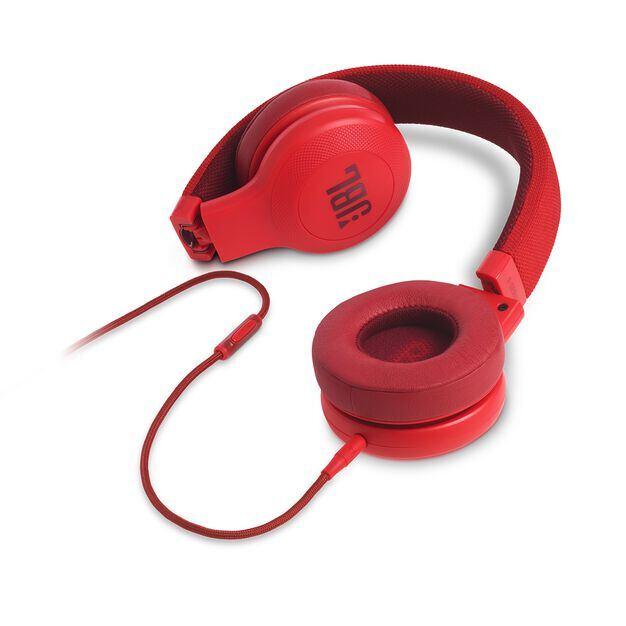 E35 - Red - On-ear headphones - Detailshot 3