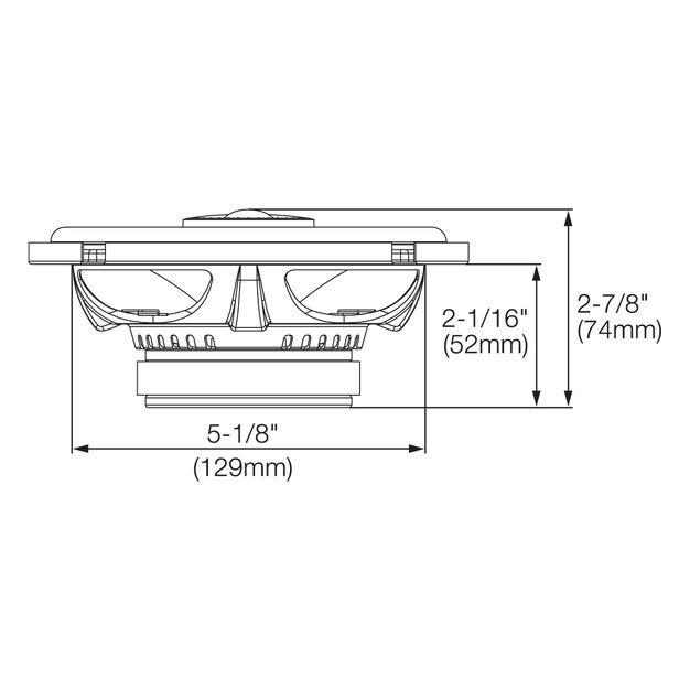 "GX602 - Black - 6-1/2"" coaxial car audio loudspeaker, 180W - Detailshot 1"