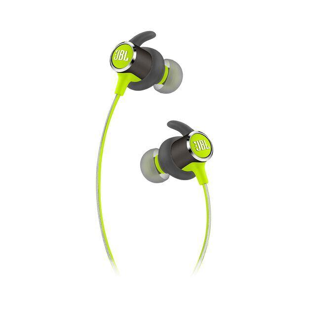 JBL REFLECT MINI 2 - Green - Lightweight Wireless Sport Headphones - Detailshot 2