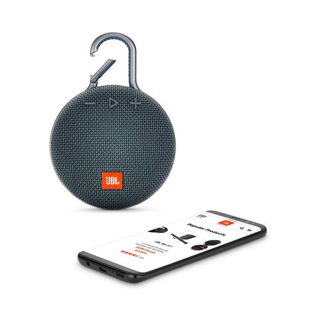 JBL CLIP 3 - Ocean Blue - Portable Bluetooth® speaker - Detailshot 1