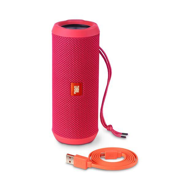 JBL Flip 3 - Pink - Splashproof portable Bluetooth speaker with powerful sound and speakerphone technology - Detailshot 4