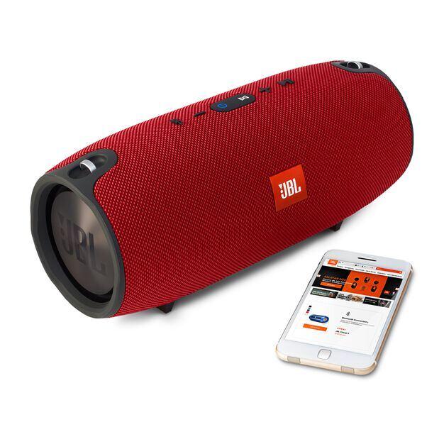 JBL Xtreme - Red - Splashproof portable speaker with ultra-powerful performance - Detailshot 4