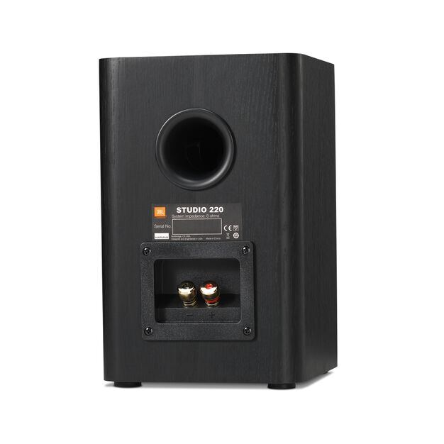 "Studio 220 - Black - 2-way 4"" Bookshelf Loudspeakers - Back"