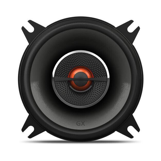 "GX402 - Black - 4"" coaxial car audio loudspeaker. 105W - Front"