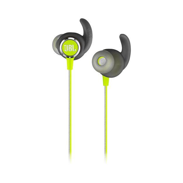 JBL REFLECT MINI 2 - Green - Lightweight Wireless Sport Headphones - Detailshot 1