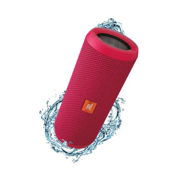 JBL Flip 3 - Pink - Splashproof portable Bluetooth speaker with powerful sound and speakerphone technology - Hero