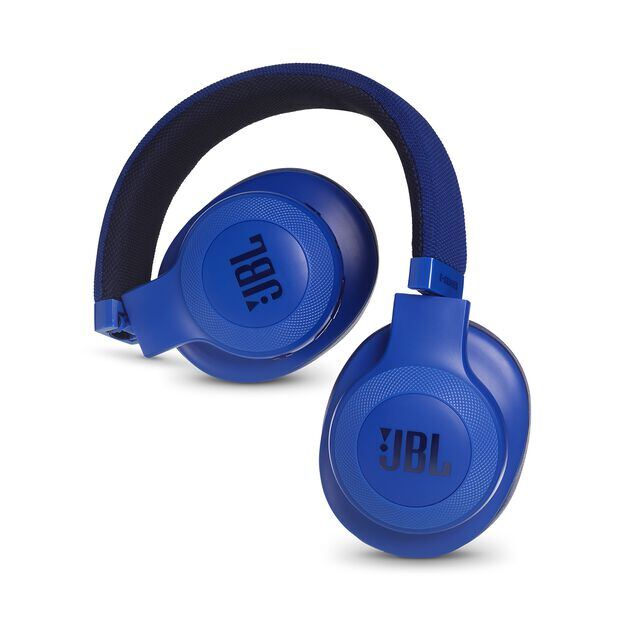 JBL E55BT - Blue - Wireless over-ear headphones - Detailshot 1